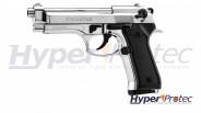 Pistolet à blanc Berreta 92 Auto Chromé