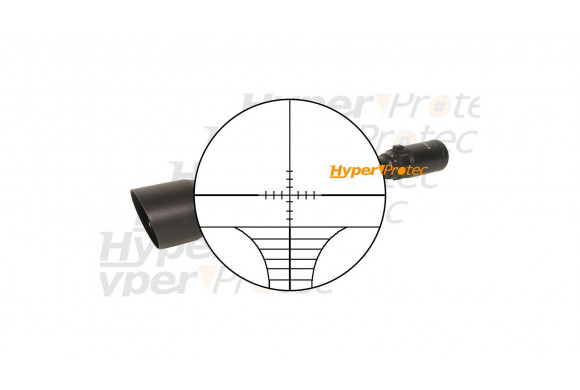 Collier avec 3 rails 22 mm UTG à fixer sur canon