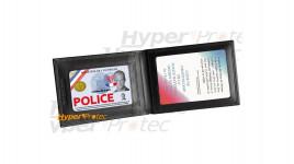 Porte carte Horizontal pour carte Professionnelle Police