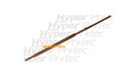 Bretelle de carabine cuir gras bouton - 108 cm