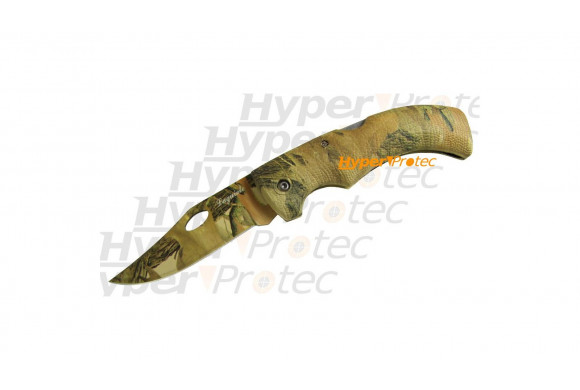 Couteau tout camouflage pliant Dundee