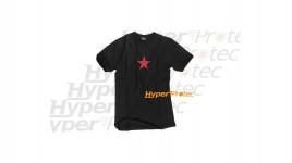 Tee-shirt Noir Etoile rouge - Taille XL