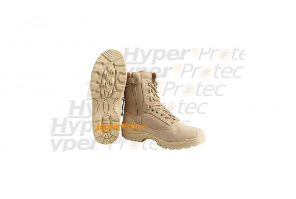Bottes taille 41- 42 de sécurité Sable - Chaussures avec zip