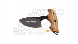 Push dagger Fox Manche en olivier 7 cm