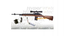 M14 AEG SLV airsoft avec lunette montage batterie chargeur bille