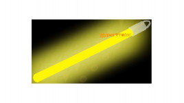 Bâton lumineux jaune 1x15 cm 8 heures