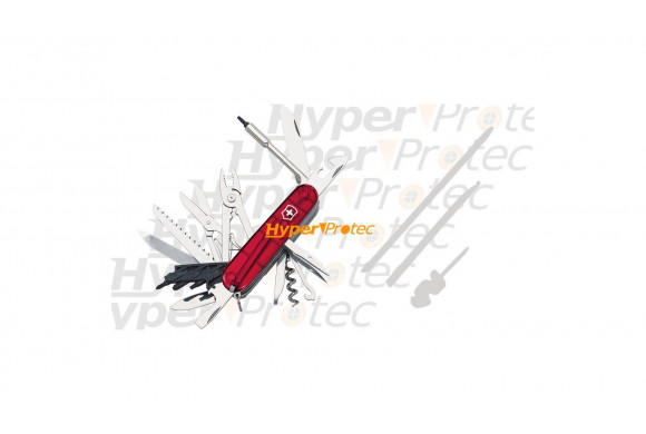Couteau Suisse Victorinox - Cyber tool 41 outils rouge transparent