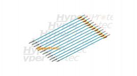 12 flèches chasse en aluminium pour arc 30 pouces - 76 cm