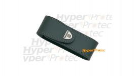 Etui en cuir noir à scratch pour couteau Victorinox - 13 cm
