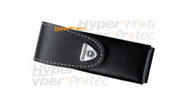 Etui en cuir noir à scratch pour couteau Victorinox - 12 cm