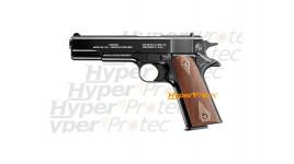 Colt 1911 A1 - Pistolet alarme noir crosse bois 100 ans