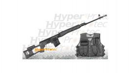 Pack Sniper Dragunov AEG sniper métal avec accessoires - 501 fps