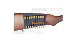 Cartouchière en néoprène 9 alvéoles pour crosse de carabine