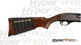 Cartouchière porte cartouche calibre 12 pour crosse de fusil
