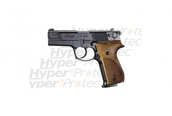 CP88 noir crosse bois - Pistolet à plombs 4 pouces