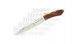 Couteau Virginia - lame lisse manche bois foncé