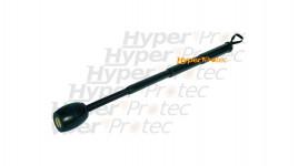 Matraque télescopique noire bout flexible - 48 cm