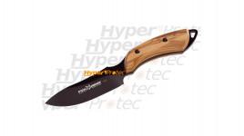 Poignard noir Fox Knives manche en olivier - lame de 9 cm