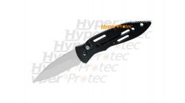 Couteau automatique manche noir lame grise Herbertz