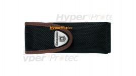 Etui en nylon noir et marron à scratch Victorinox - 10 cm