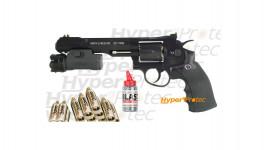 Pack S&W 327 TRR8 noir 6 pouces +lampe + co2 + billes acier