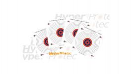 300 cibles en papier légères pour airsoft 17x17 cm
