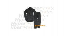 Sous-vêtements thermolactiles noirs sweat et pantalon Taille L