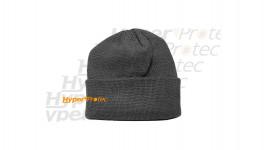 Bonnet en acrylique noir maille fine