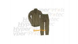Sous-vêtements thermolactiles verts sweat et pantalon Taille L