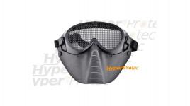 Masque à grillage noir avec strap