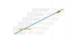 Flèche en aluminium bleue pour arc pointe sertie - 75.3 cm