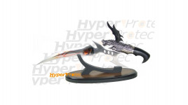 Couteau de décoration Dragon volant avec support en bois