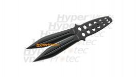2 couteaux de lancer identiques tout en métal - 25 cm