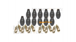12 enveloppes de grenades MK 2 + 12 CO2 de 12g