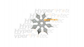 Shuriken étoile de ninja 8 pics métal - 8.2 cm