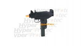 Pistolet Uzi en coup par coup avec canon orange + 2 chargeurs