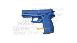 Pistolet en caoutchouc bleu - Entraînement au self défense