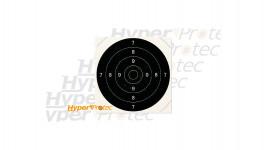 100 centres de cible carton 21x21 cm pour du tir au pistolet à p