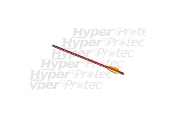 Flèche trait carreau 38cm aluminium rouge ou noire 15 pouces