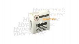 1000 pastilles blanches autocollantes Diamètre 19 mm