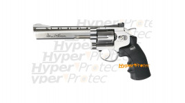 Revolver Dan Wesson chromé 6 pouces airsoft CO2 - 328 fps