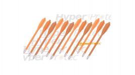 12 flèches oranges pour pistolet arbalète pointes alu