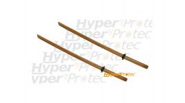 Paire de Bokken épées en bois Katana - 95 cm