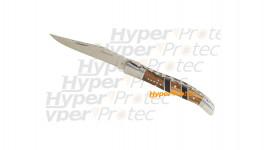 Couteau Laguiole manche bois et métal