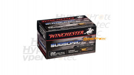 50 cartouches 22LR Subsonic Winchester Hollow Point