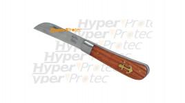 Couteau pliant pour un marin avec une ancre marine
