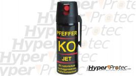 Pulvérisateur anti agression jet poivre Pfeffer KO Jet - 50 ml
