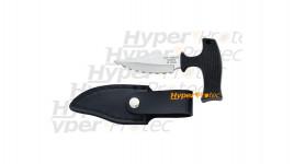 Push dagger Herbertz lame crantée avec étui de transport