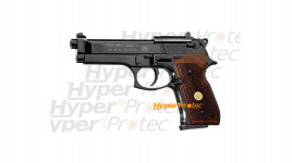 Beretta 92 noir - crosse bois - plombs 4.5 mm - co2