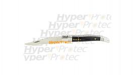 Petit couteau Laguiole guilloché manche noir - lame de 7 cm